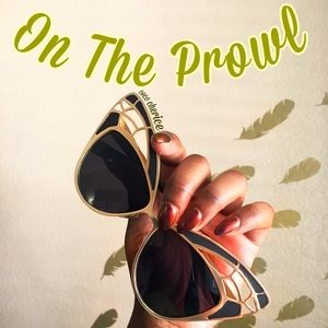 Accessories - SOLD Gold & Black On The Prowl Sunnies